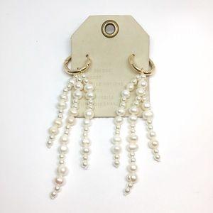 NWT Anthropologie pearl tassels earrings